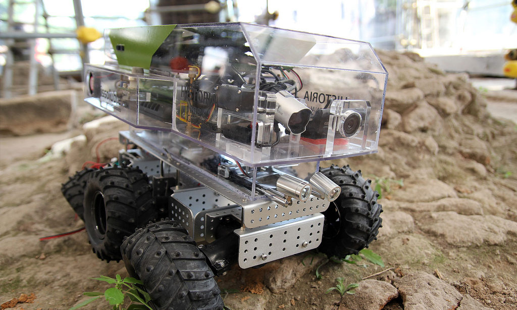 "El ""Archeorobot"". Foto: Indissoluble"