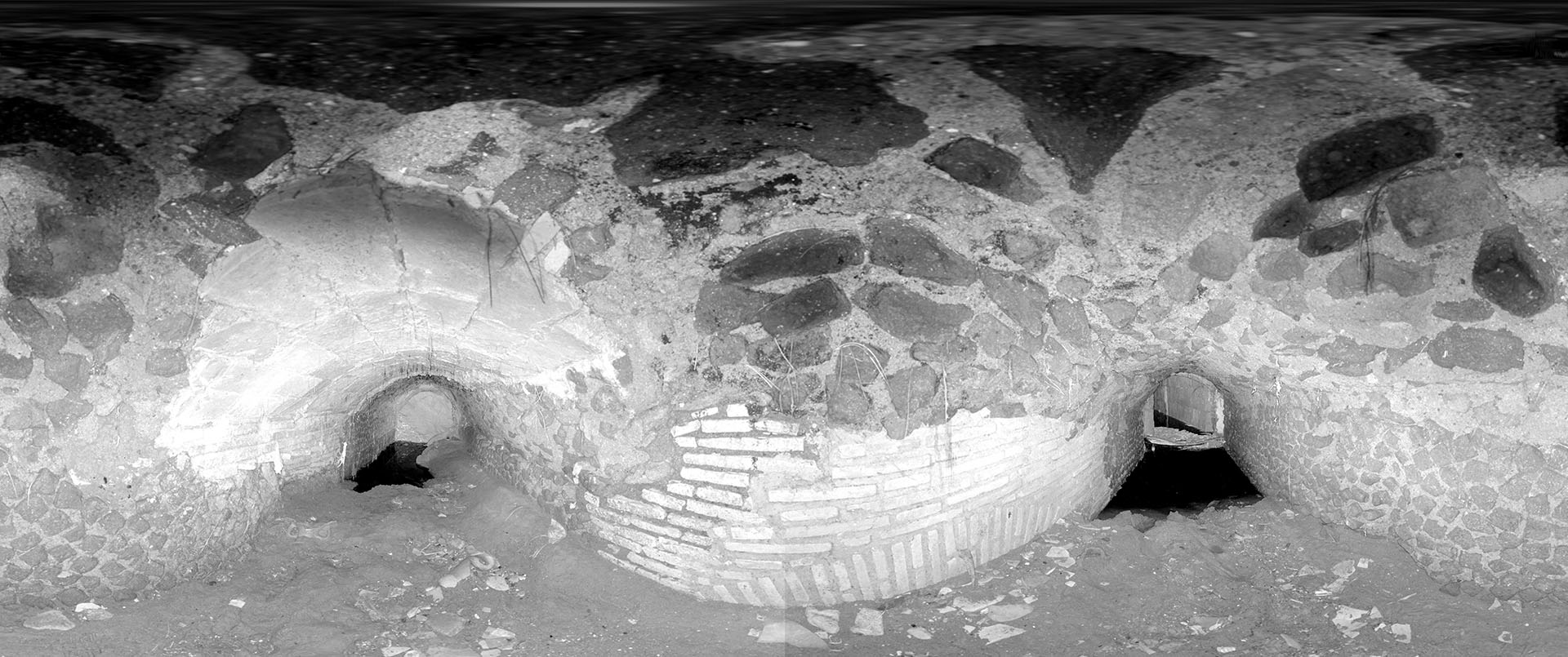 Imagen esférica desplegada, a partir del escaneado láser.